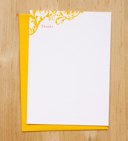 Flourish Thank You Card