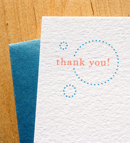 Jolly Dots Thank You Card