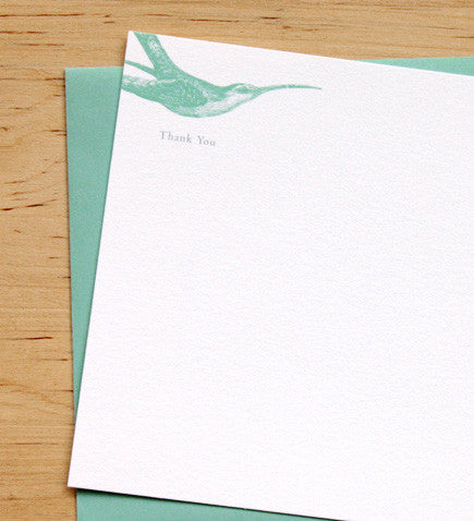 Hummingbirds Thank You Card