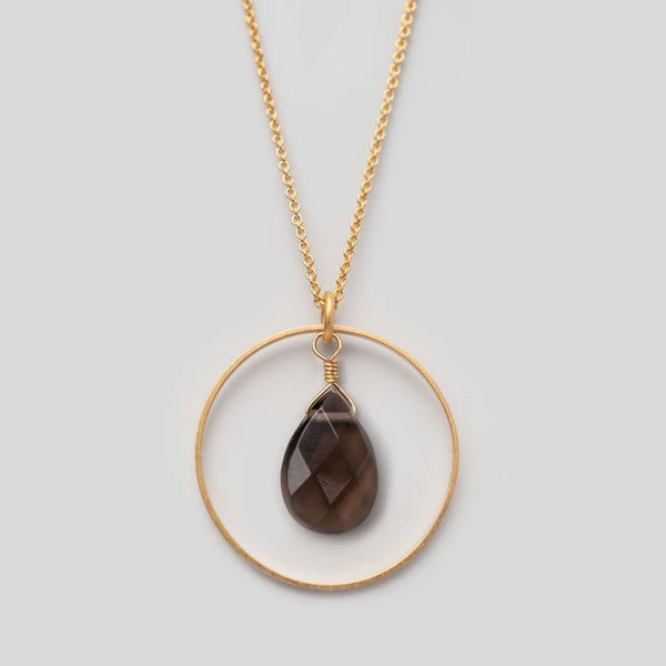 Halskette Loop Smokey Quartz