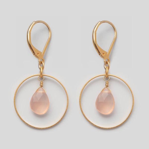Ohrhänger Loop Rose Quartz