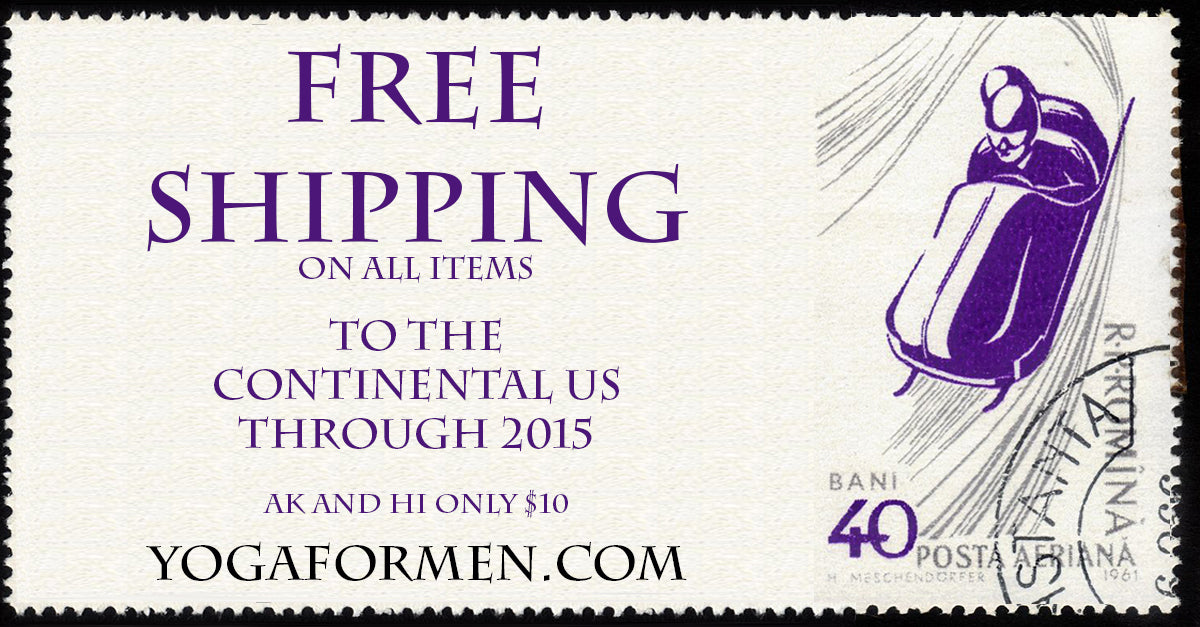 Free shipping at Yoga for Men!