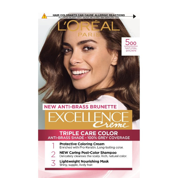 L'Oreal Excellence Creme,  Боя за коса, 500 Естествено кафяво