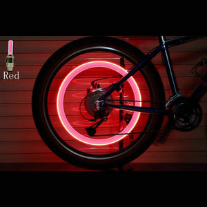 2PCS Bicycle LED Light Tire Valve Cap Bicycle