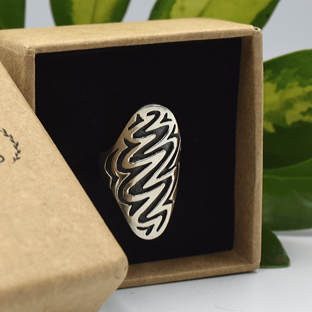 Zigzag Boho Sterling Silver Womens'S Ring - Lemon and Twig