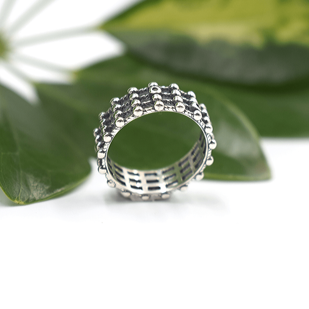 Stoneless Sterling Silver Eternity Ring - Lemon and Twig