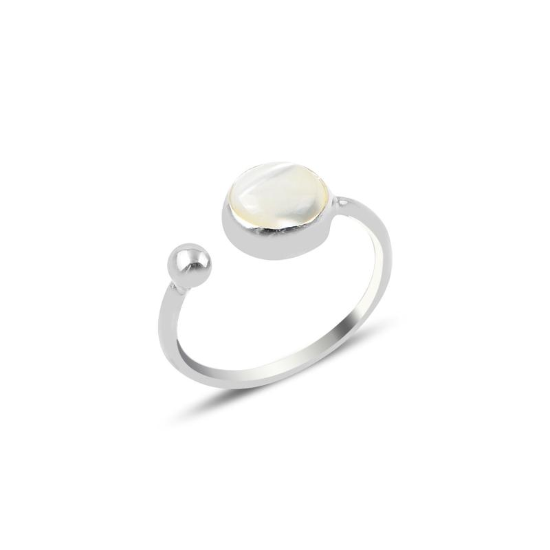 Adjustable Pearl Gemstone Sterling Silver Ring - Lemon and Twig