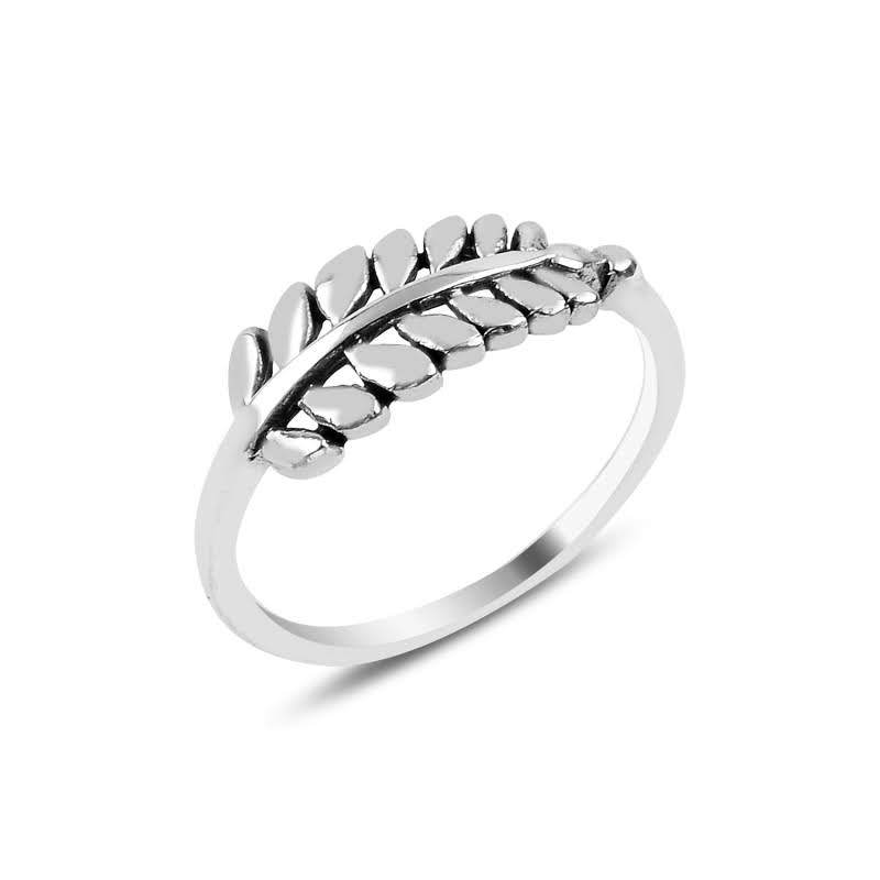 Branch With Leafs Sterling Slilver Ring - Lemon and Twig