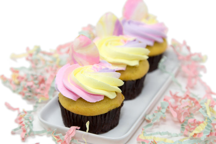 Double Stuff Watercolour Easter Cupcake