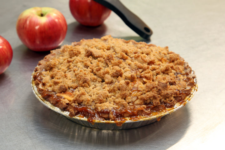 "Apple Butterscotch Crumble Pie (9"" Round & Deep Dish - SOY FREE) - Bunner's Bakeshop"