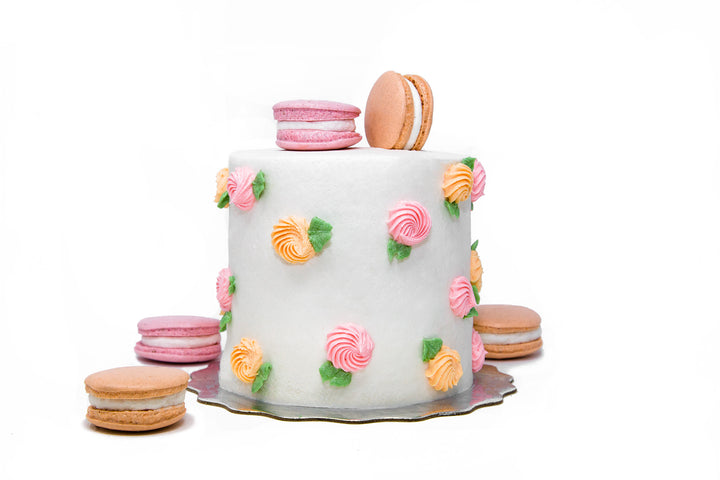 "Peaches and Cream 4"" Mother's Day Mini Cake - Bunner's Bakeshop"