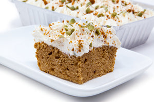 Maple Cream Cheese Pumpkin Spice Freezer Cake - Bunner's Bakeshop