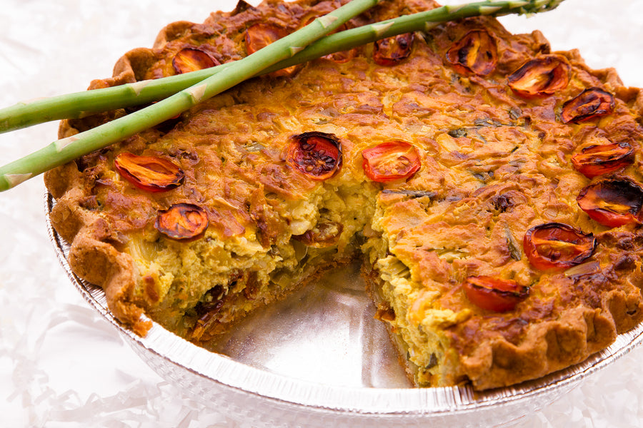 Sun Dried Tomato and Asparagus Quiche