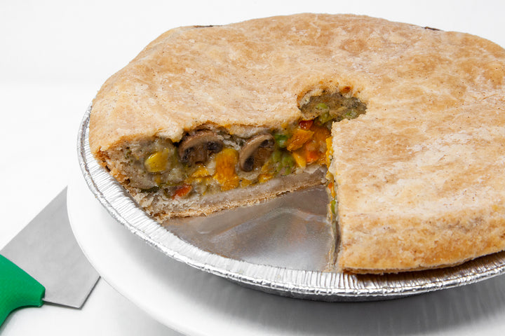 "SOY-FREE Harvest Vegetable Pot Pie (9"" Round & Deep Dish) - Bunner's Bakeshop"
