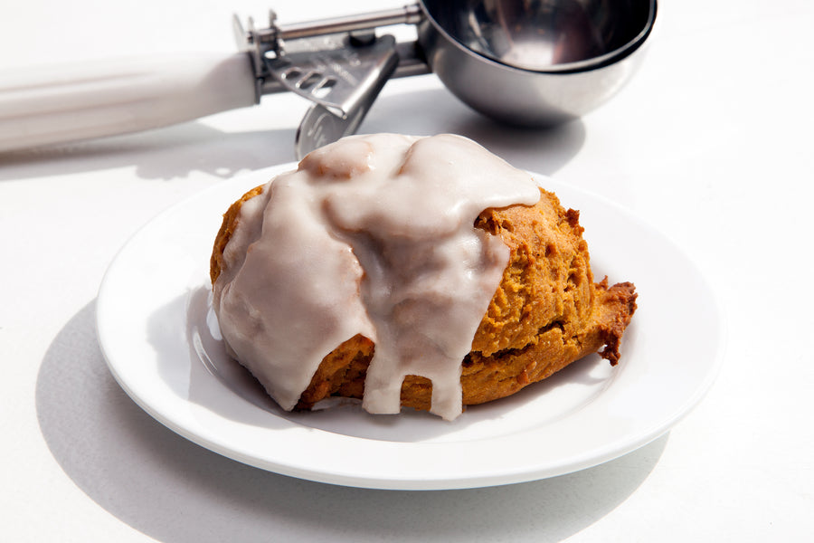Pumpkin Spice Maple Glaze Scone - Bunner's Bakeshop