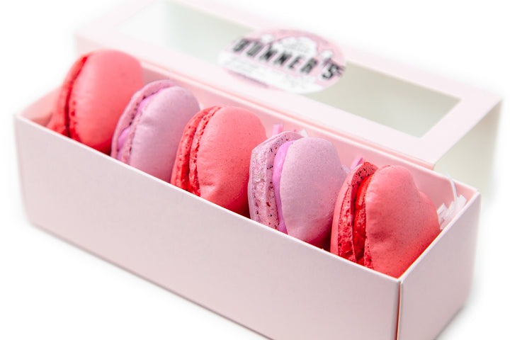 Heart Shaped Macarons (5pcs in a Cute Box)