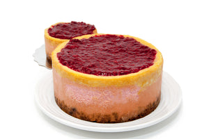 Lemon & Raspberry Two Layer Cheesecake