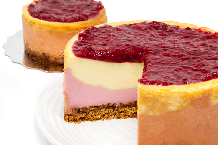 Lemon & Raspberry Two Layer Cheesecake - Bunner's Bakeshop