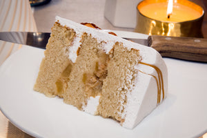 Bourbon Pear and Vanilla Bean Cake - Bunner's Bakeshop