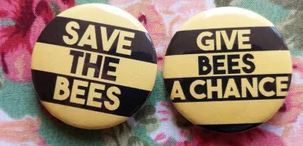 Black and Yellow Striped Bee Pins