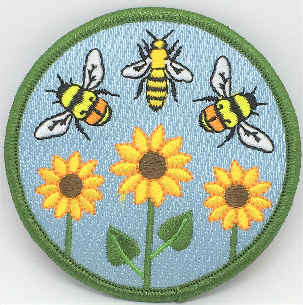 Patch- Bee and Flower