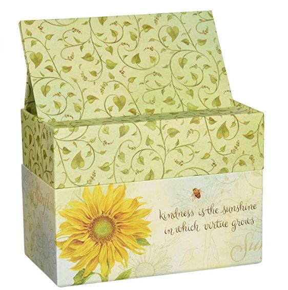 Recipe box - Sunflower with bee