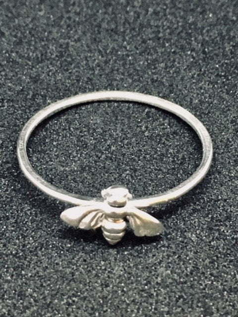 Silver Ring with Bee