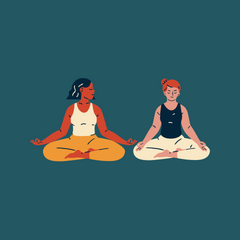 Two people sitting for meditation