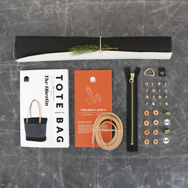 DIY Oberlin Bag Kit by Klum House kit contents