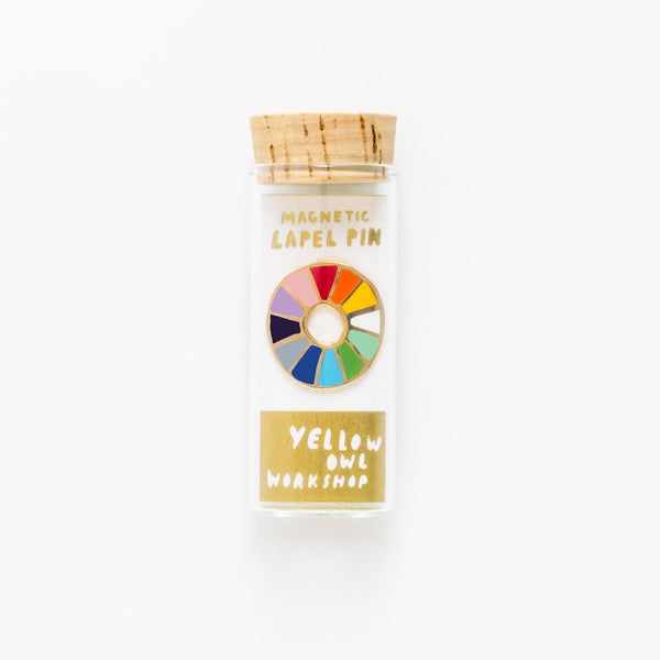 Color Wheel Lapel Pin by Yellow Owl Workshop