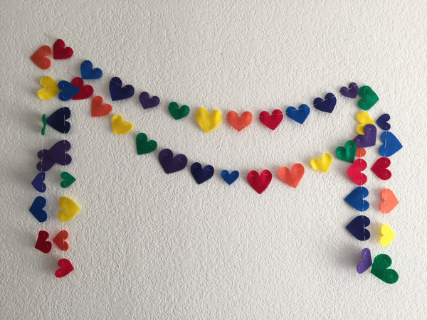 Rainbow Heart Garland by Feed the Fish Co.