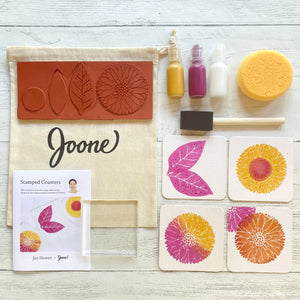 Joone Stamped Coaster Mini Kit by Jen Hewett