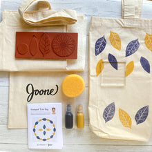 Load image into Gallery viewer, Stamped Tote Bag Mini Kit by Jen Hewett