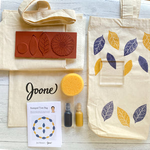Stamped Tote Bag Mini Kit by Jen Hewett
