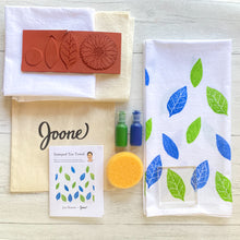Load image into Gallery viewer, Stamped Tea Towel Mini Kit by Jen Hewett
