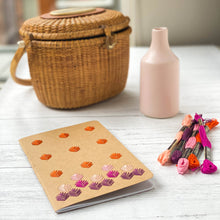 Load image into Gallery viewer, Embroidered kraft notebook, shown in autumn