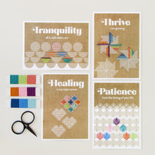 Load image into Gallery viewer, Affirmation cards embroidered with Rainbow palette