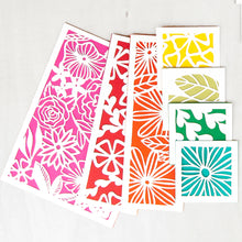 Load image into Gallery viewer, Botanical Paper Cutting Kit in Rainbow