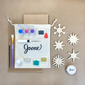 Wooden Ornament Kit contents