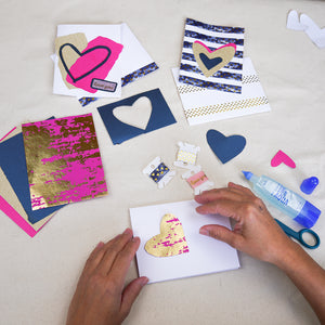Online Workshop 2/6: Collage Valentine's Cards with artist Erin McCluskey Wheeler