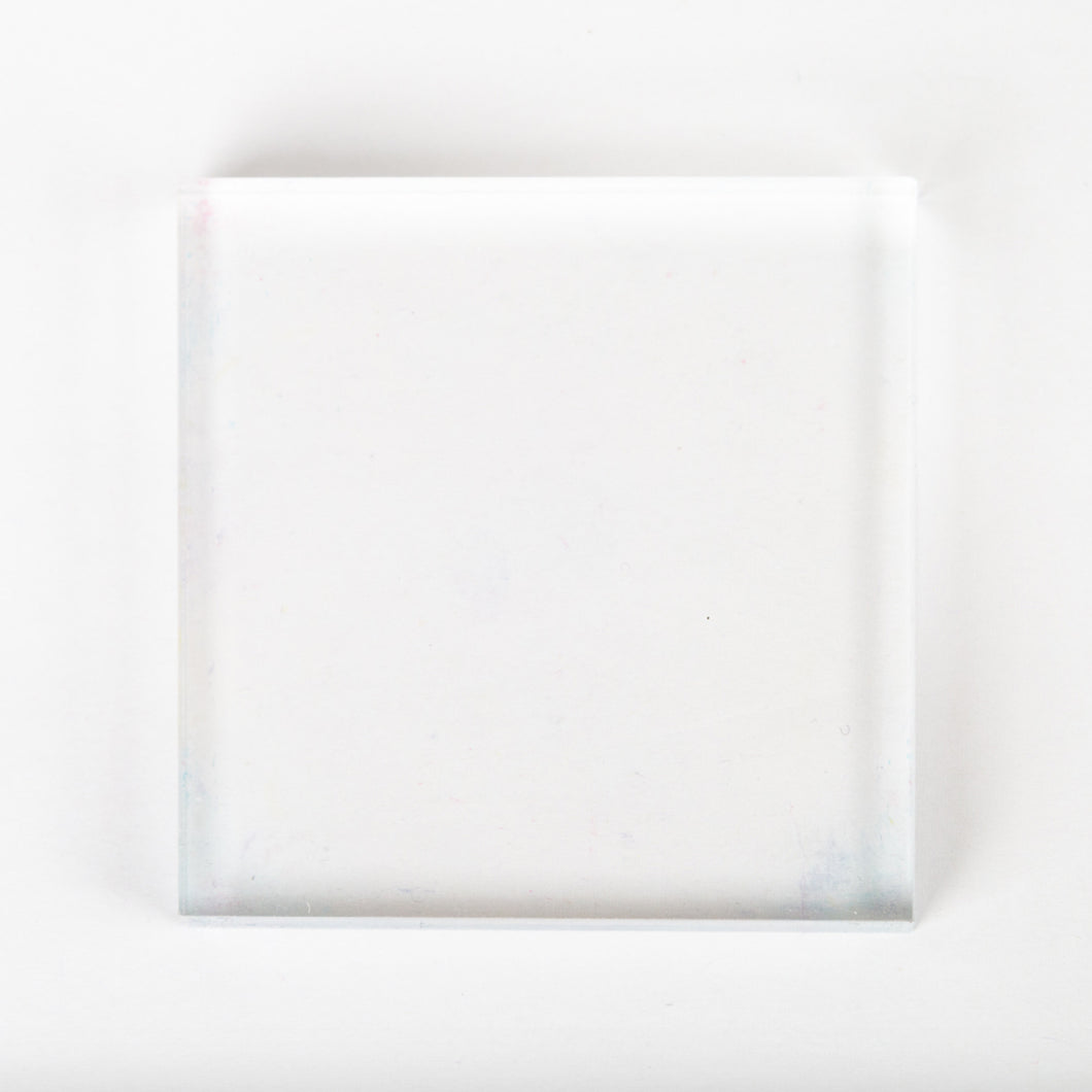 Acrylic Stamp Block - 3x3 in square