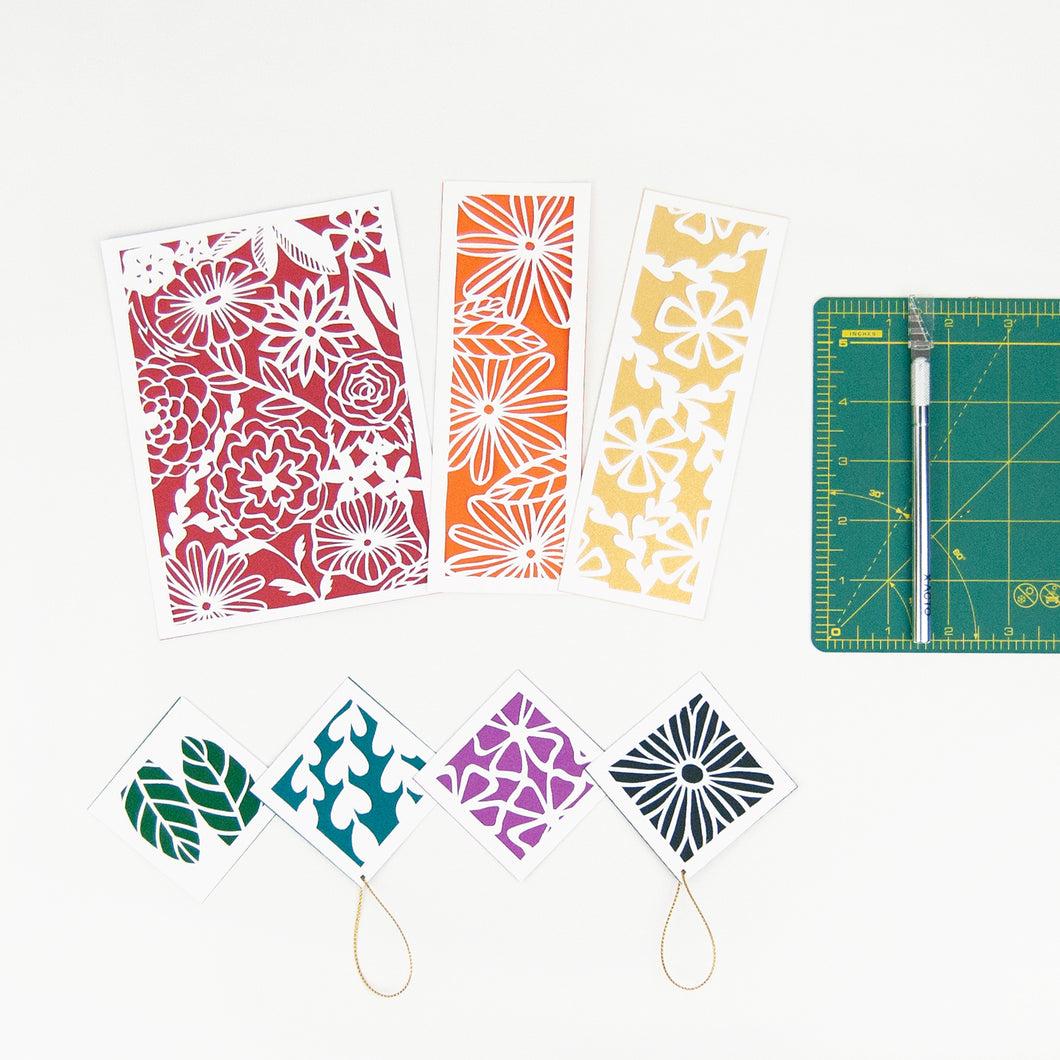 Botanical Paper Cutting Kit