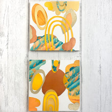 Load image into Gallery viewer, Paper Collage Kit - large wood panels shown in beach color palette