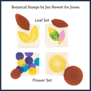 Flower and Leaf Stamp Sets by Jen Hewett for Joone