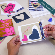 Load image into Gallery viewer, Online Workshop 2/6: Collage Valentine's Cards with artist Erin McCluskey Wheeler