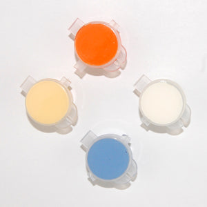 Prairie color set: orange, cream, blue, pale yellow