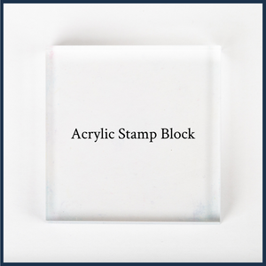 "3x3"" acrylic stamp block"