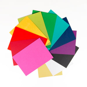 Rainbow paper colors