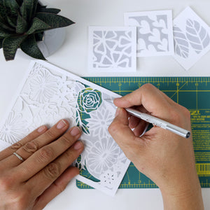 Botanical Paper Cutting Kit in Rainbow