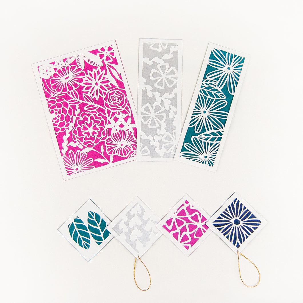 Botanical Paper Cutting Kit in Orchid